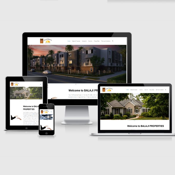 balaji properties website design