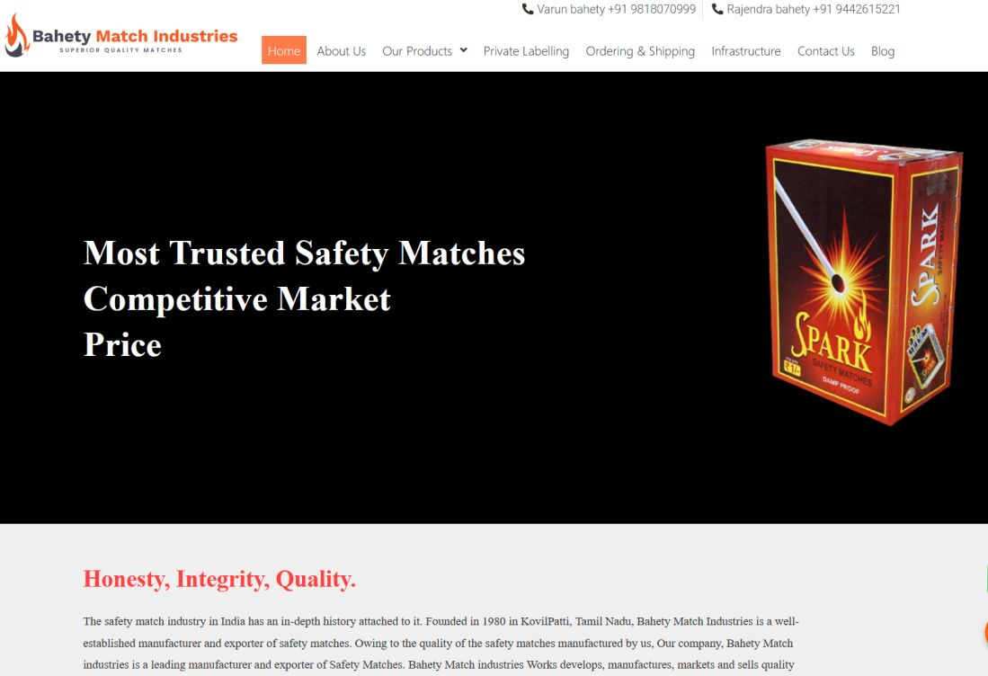 Bahety safety match industry